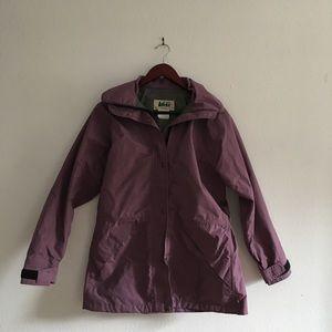 Vintage REI Purple Water Resistant Rain Jacket